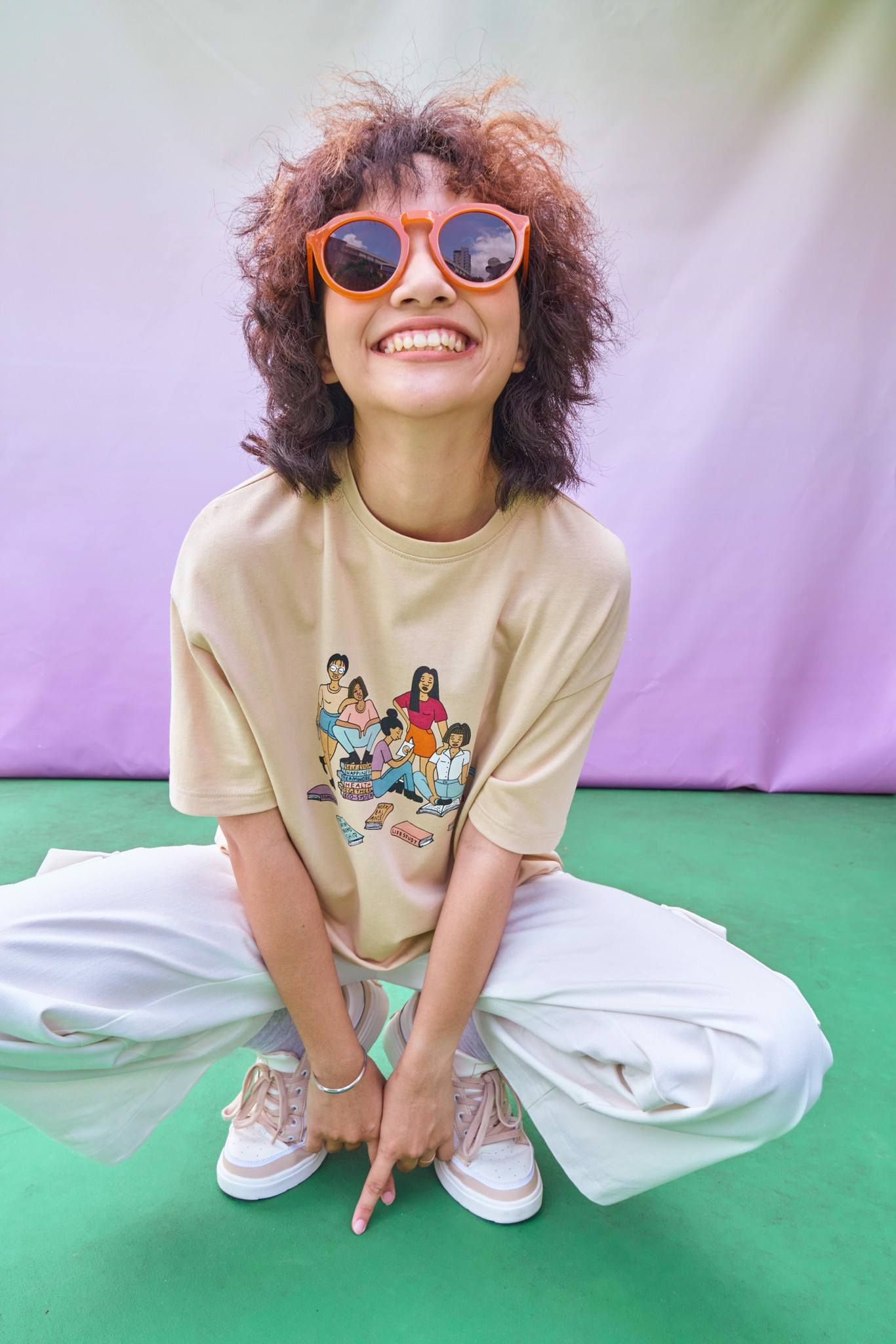 Learn For Life  T-shirt- Beige