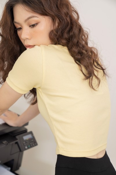 Yellow Cropped T-shirt
