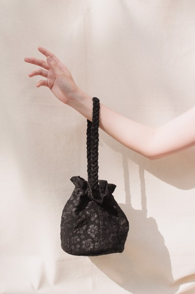Bucket Jacquard Bag - Black