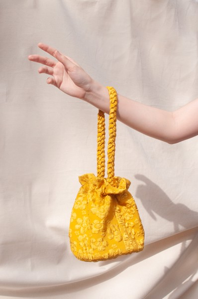 Bucket Jacquard Bag - Yellow