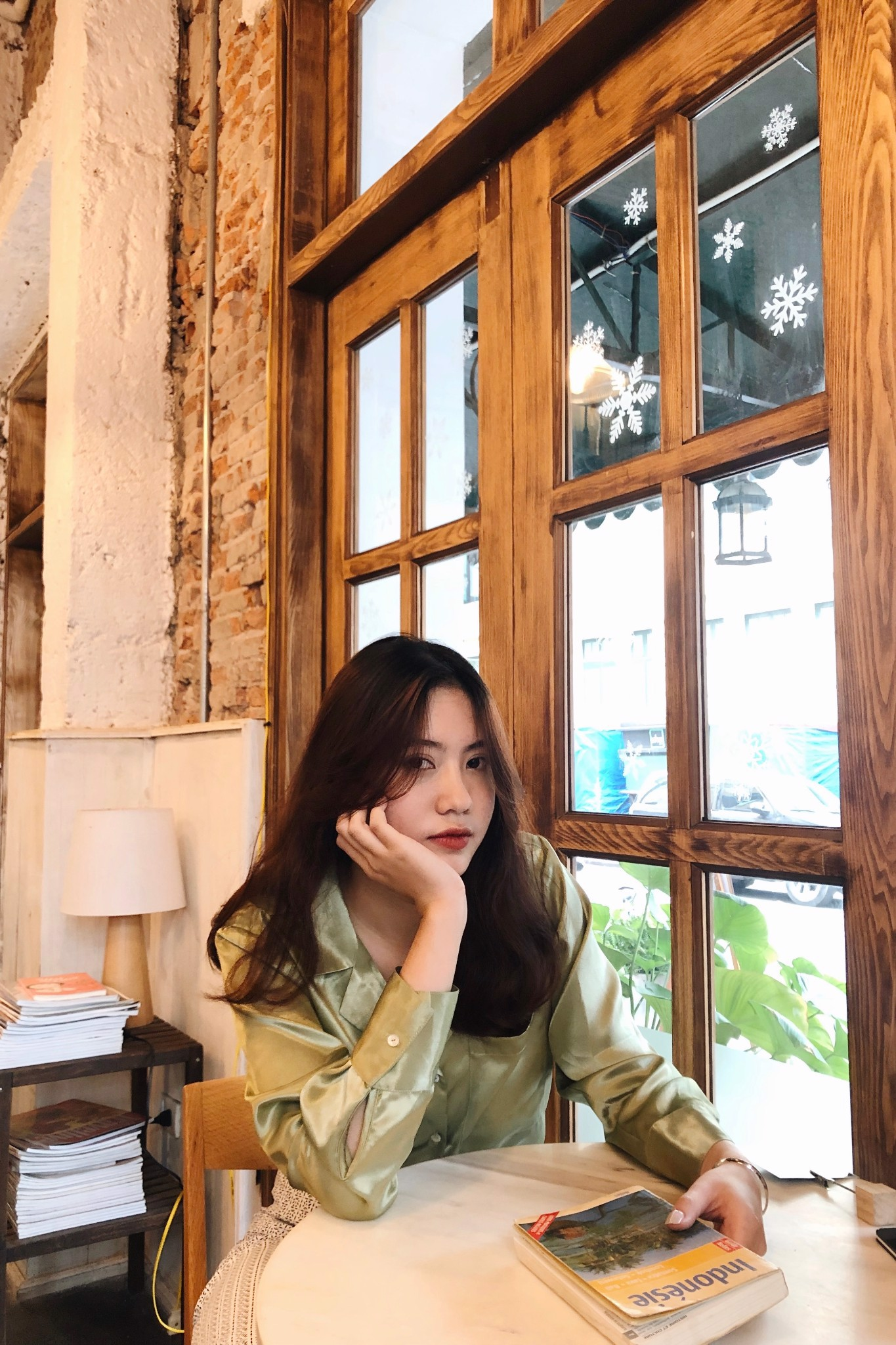Matcha Silky Long Sleeve Shirt