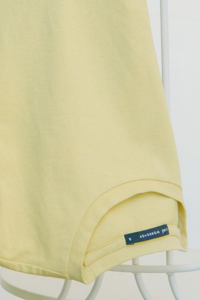 Light Yellow Basic T-shirt