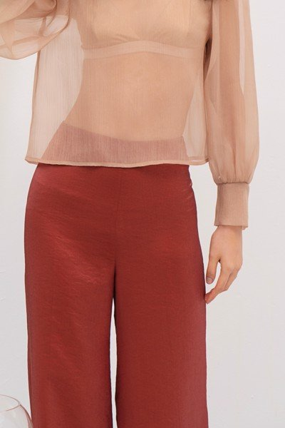 Red Organza Trousers