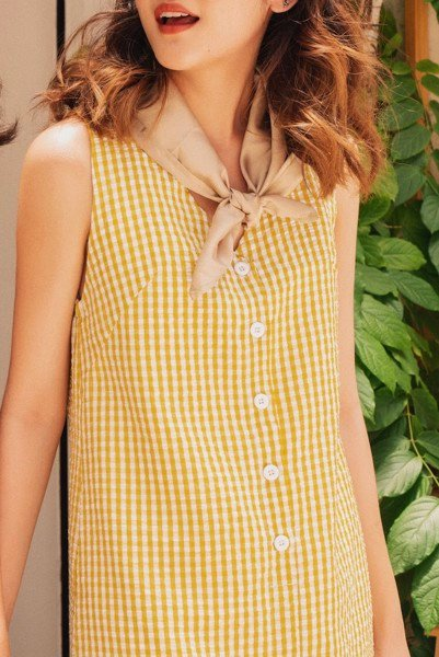 Yellow Checked Dress