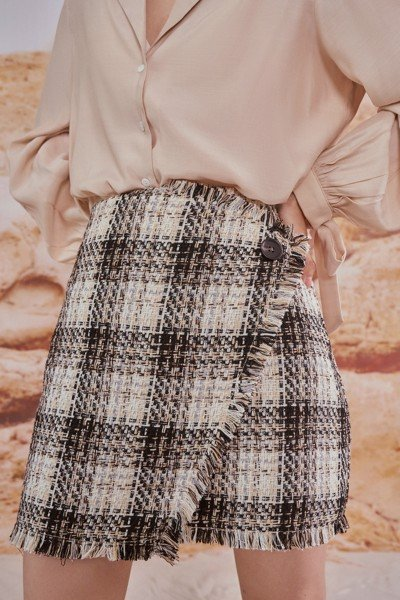 Tweed Mini Skirt