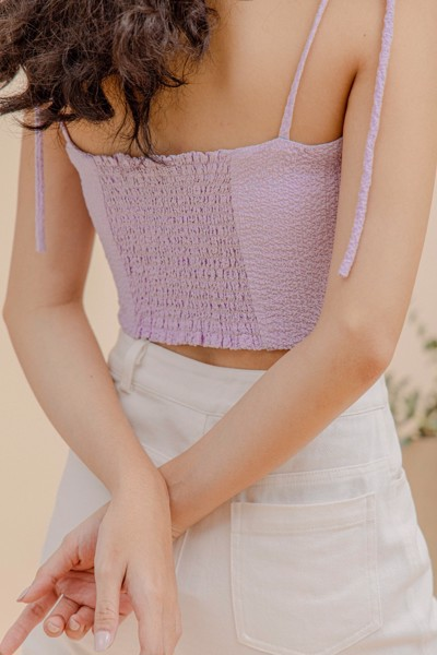 Purple Strappy Top
