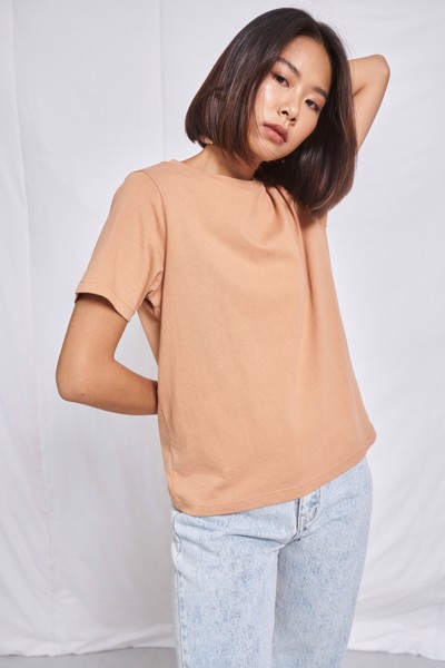 Light Orange Relaxed Fit   T-shirt
