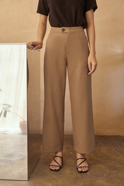 Cotton Straight Leg Trousers