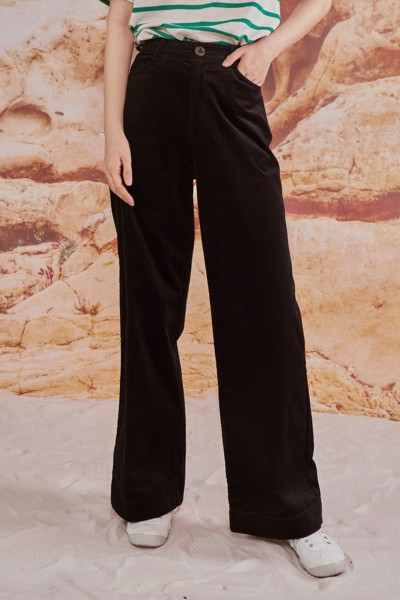 Black Corduroy Trousers