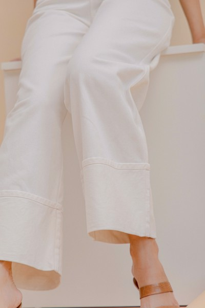 White Khaki Trousers