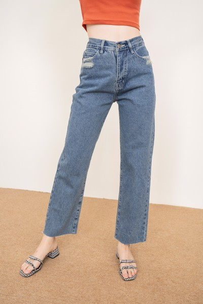 Dark Wash Mom Jeans