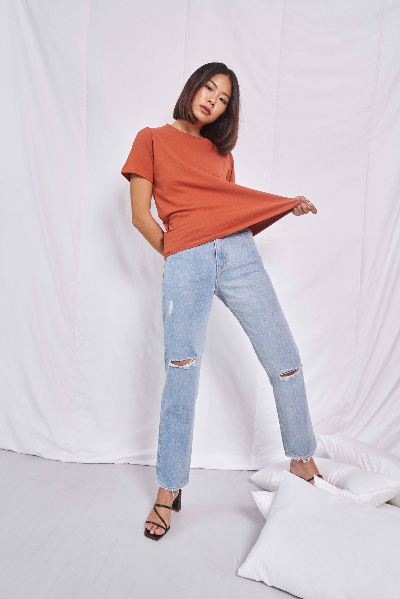 Burnt Orange Relaxed Fit   T-shirt