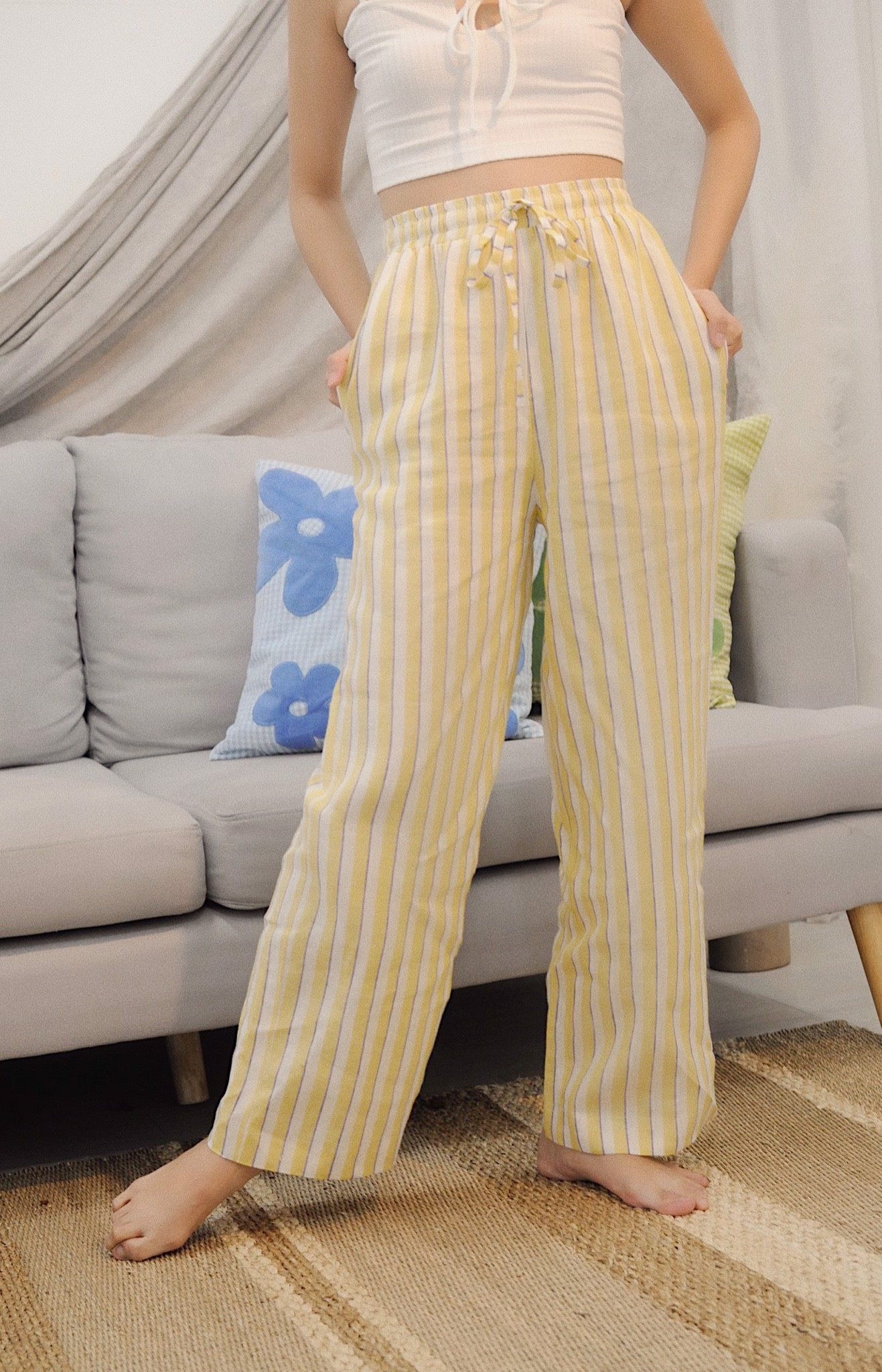 Kho-kho Trousers - Yellow