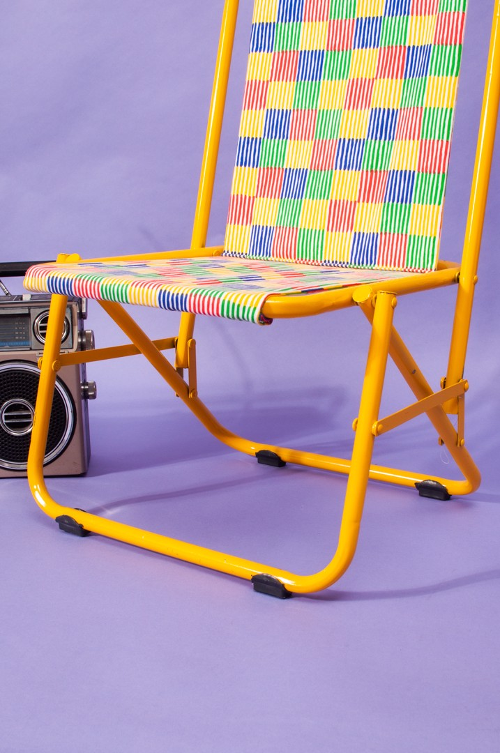 Checked Chair- Yellow