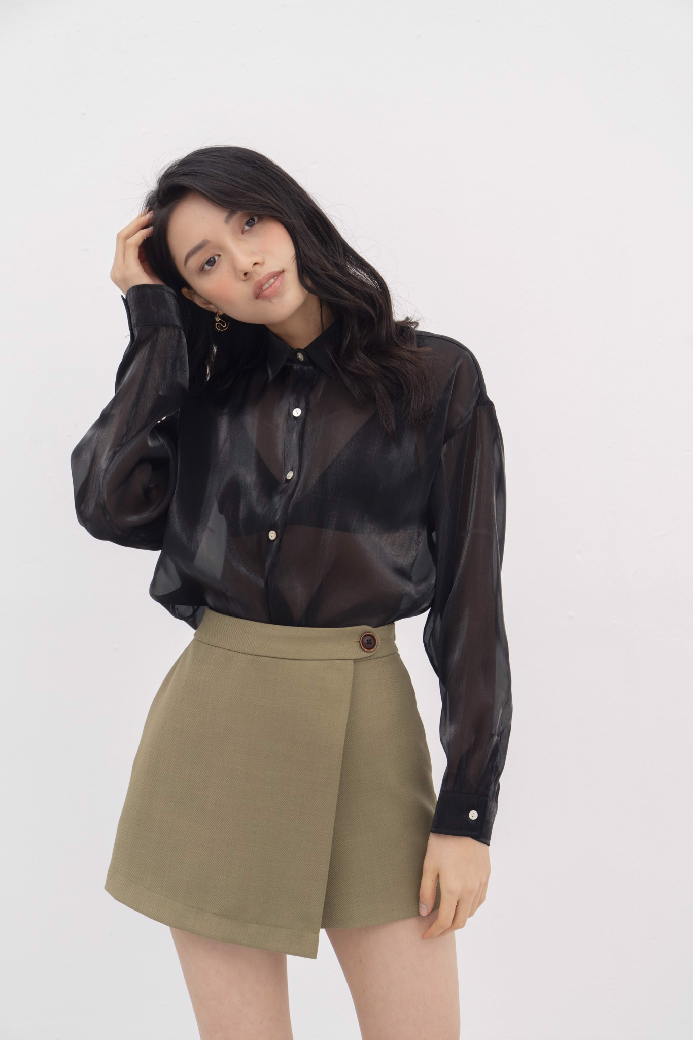 Black Organza Shirt