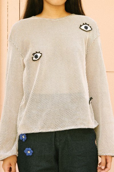Longsleeves Crochet Top With Removable Pins