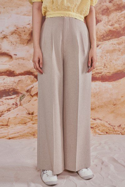 Darted Wide Leg Trousers