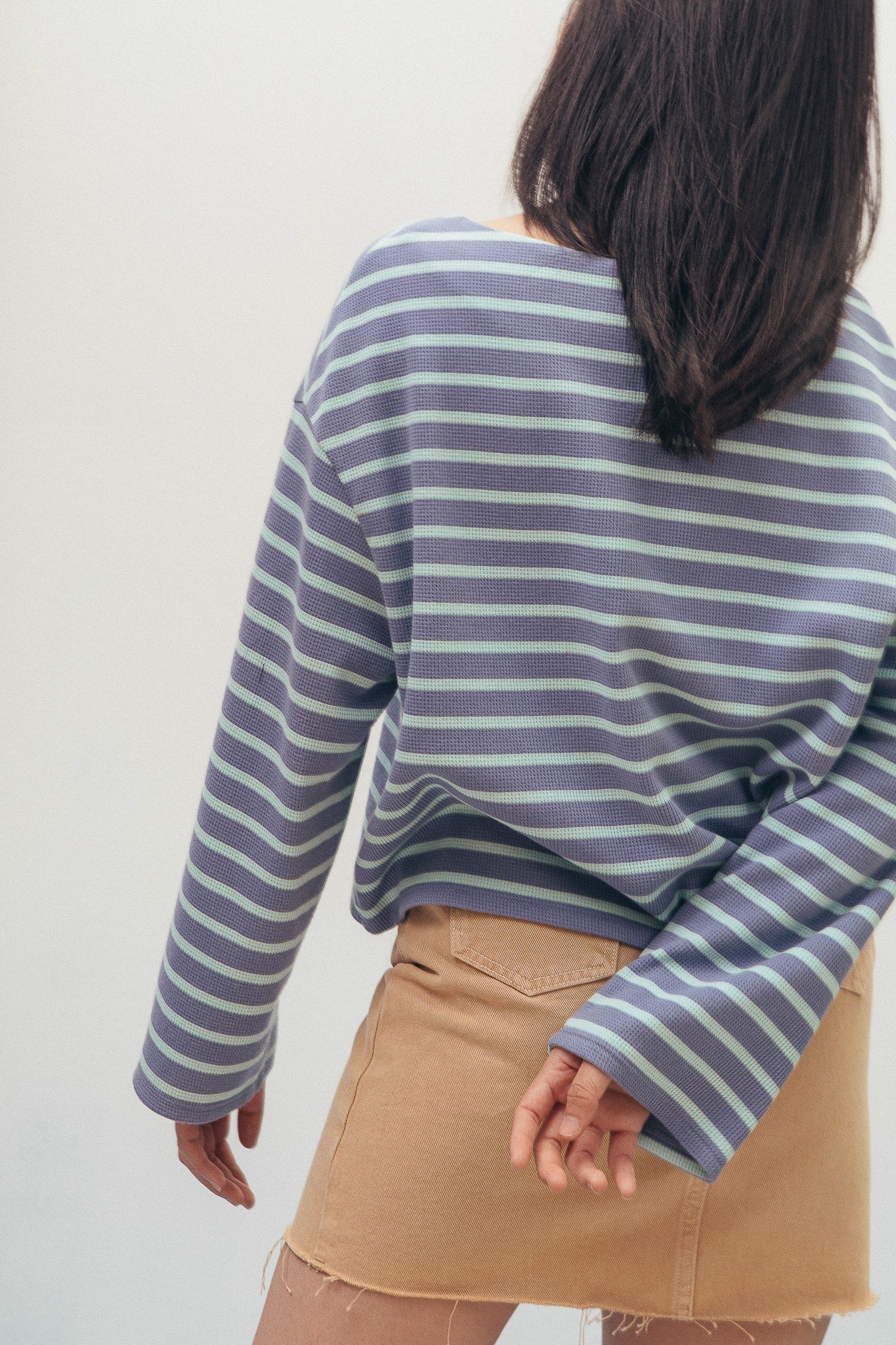 Striped Long Sleeve Top - Blue