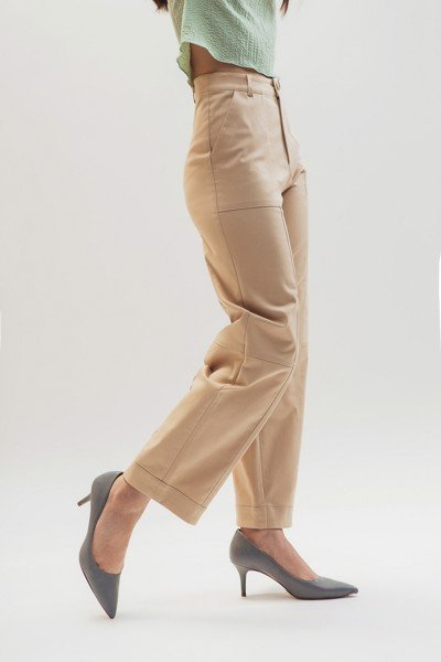 Light Brown Baggy Trousers