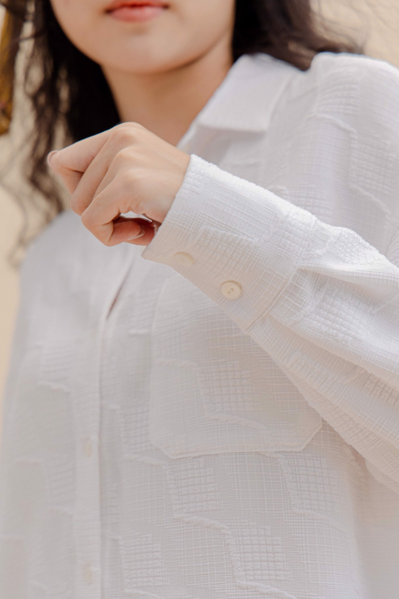 White Textured Shirt