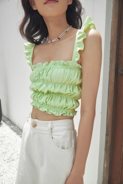 Lime Green Smocked Camisole