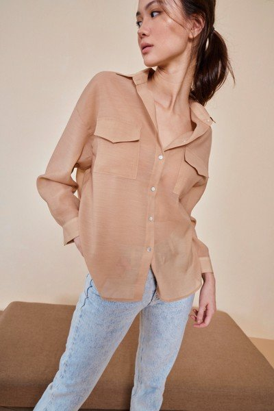 Light Brown Oversized Shirt