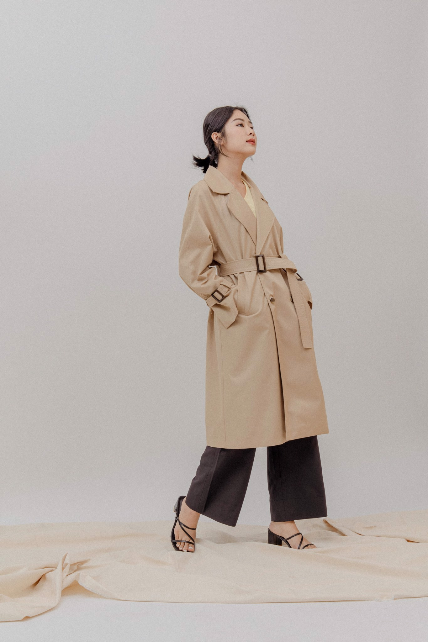 Belted Trenchcoat - Brown