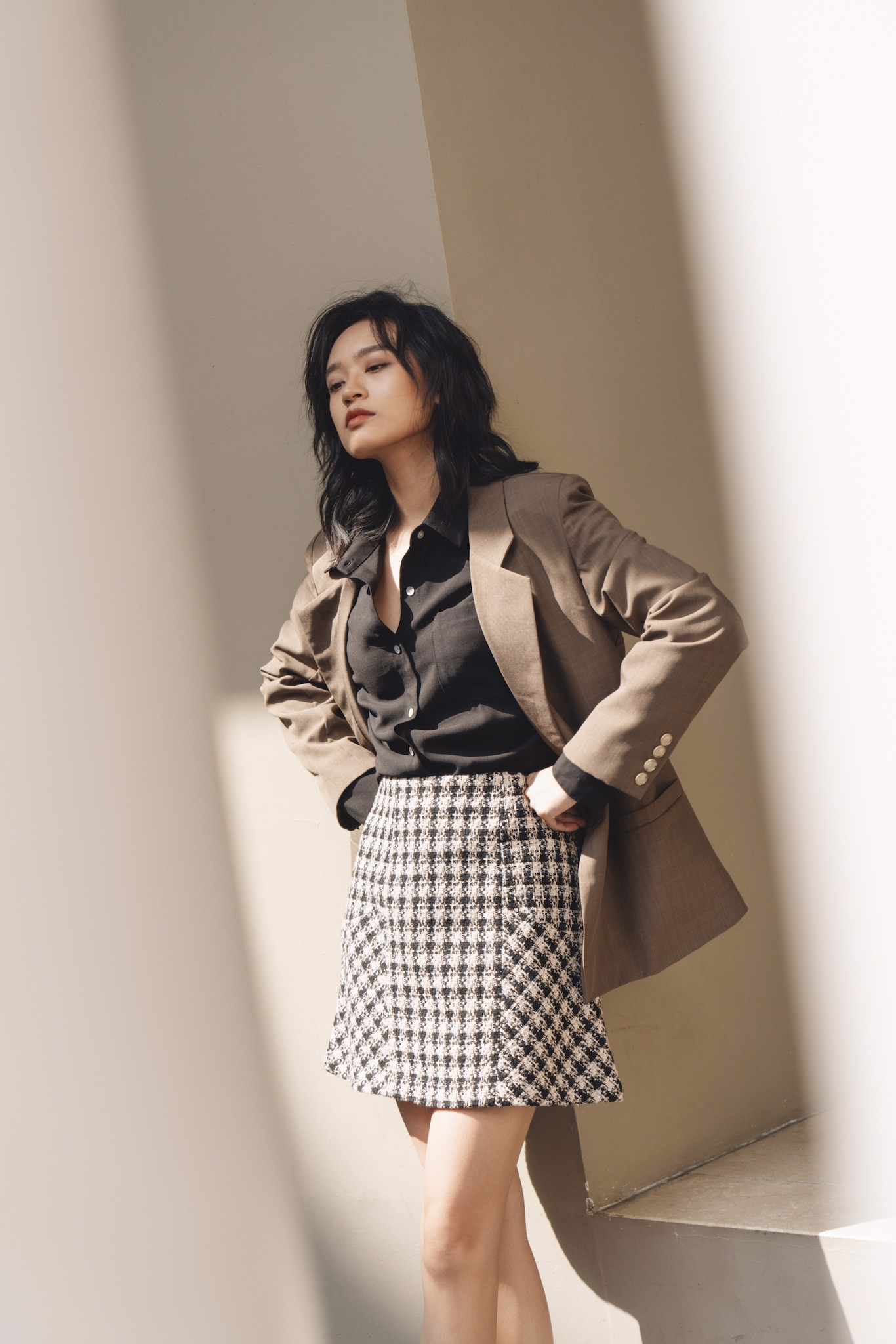 Brown Two - Button Blazer