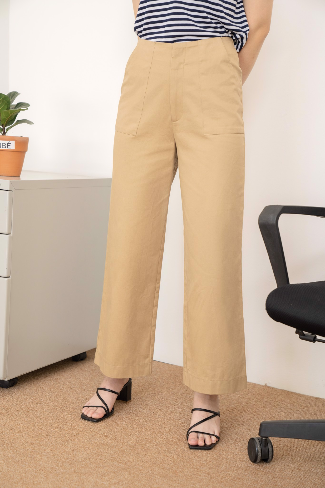 Brown Straight Leg Pants