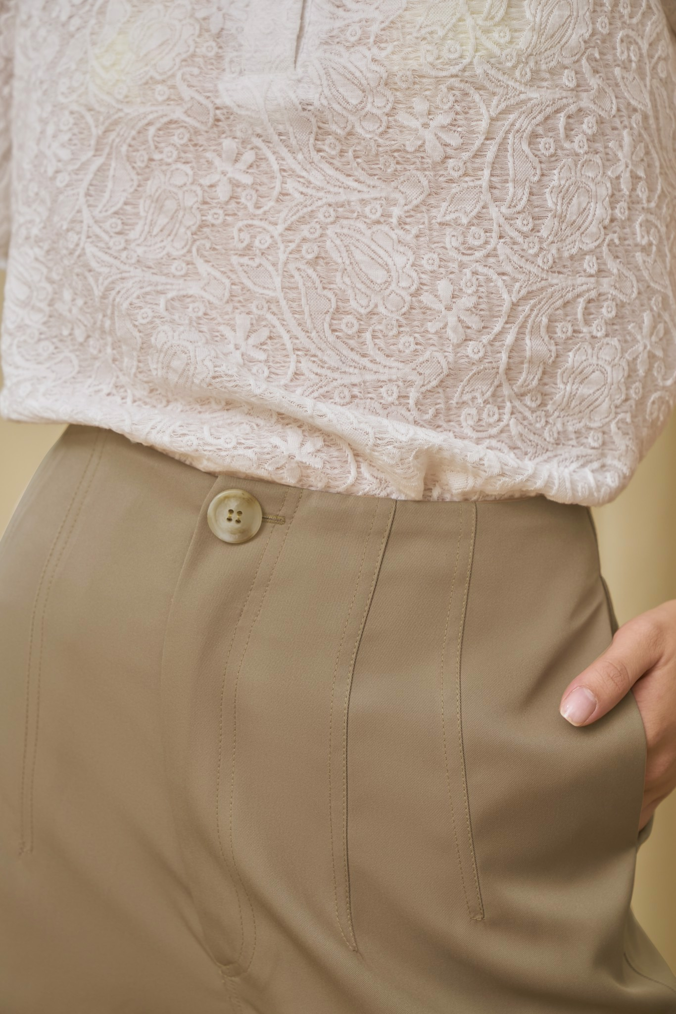 Light Brown Pants with Stitches