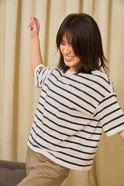 Black And White Striped T - Shirt