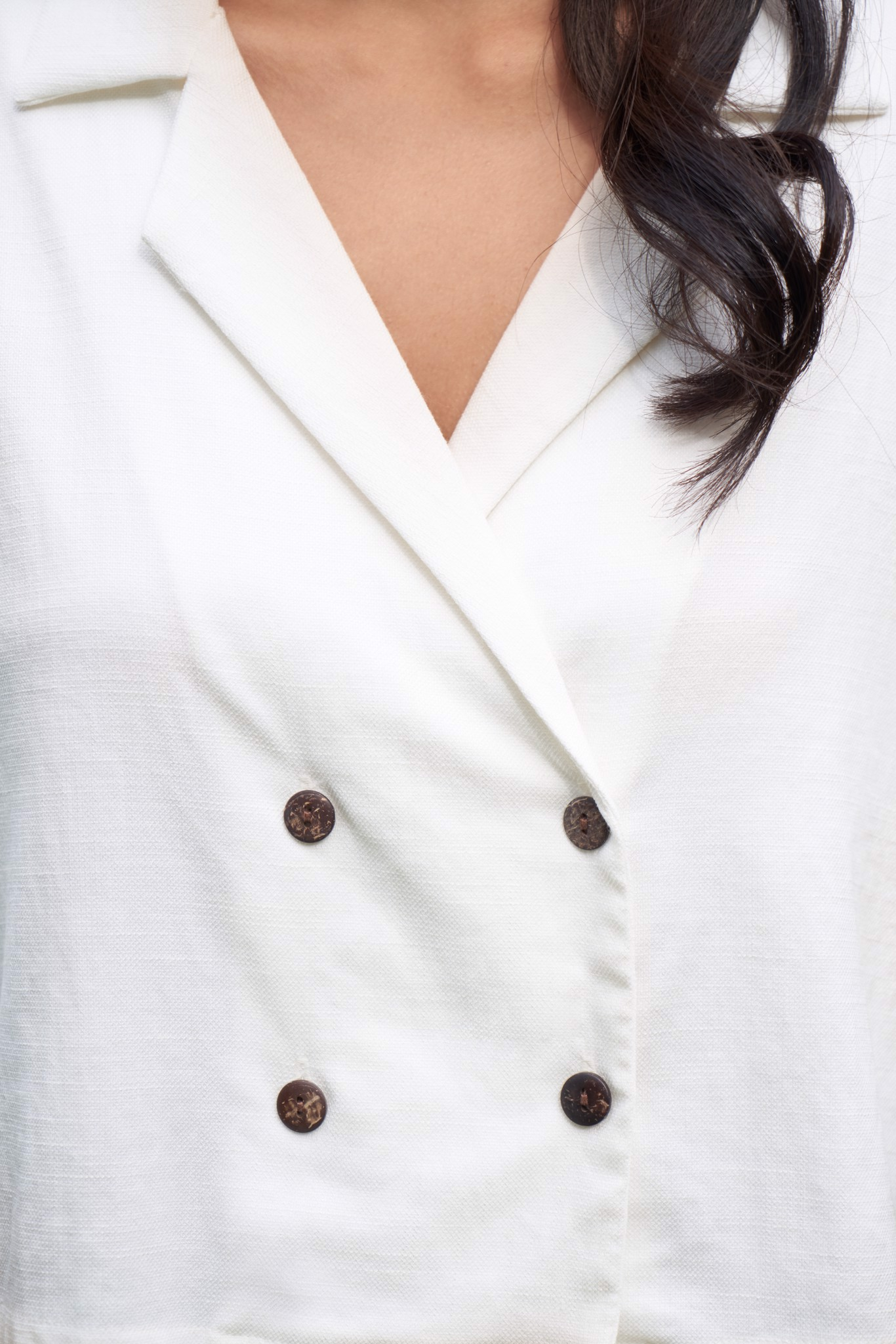 White Top with Buttons
