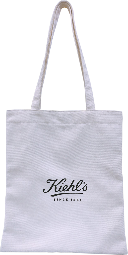 Kiehl's White Canvas Tote Bag