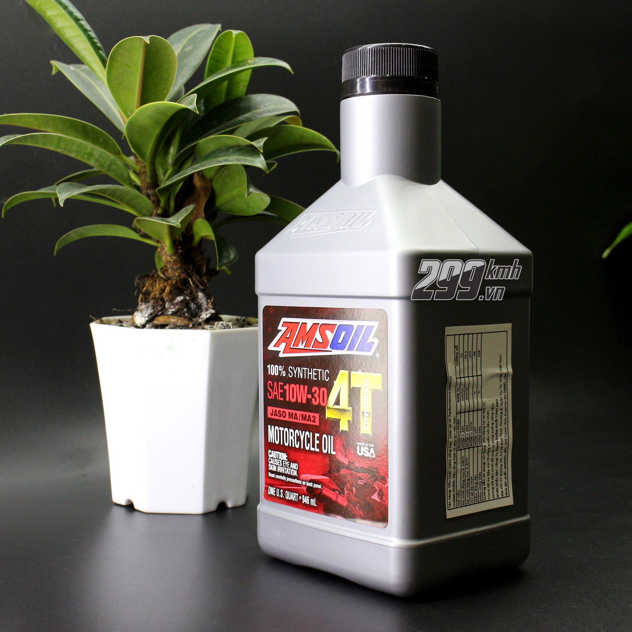 Nhớt Amsoil 4T Performance 10W30 - 100% Synthetic 946ml/1L1/1L3