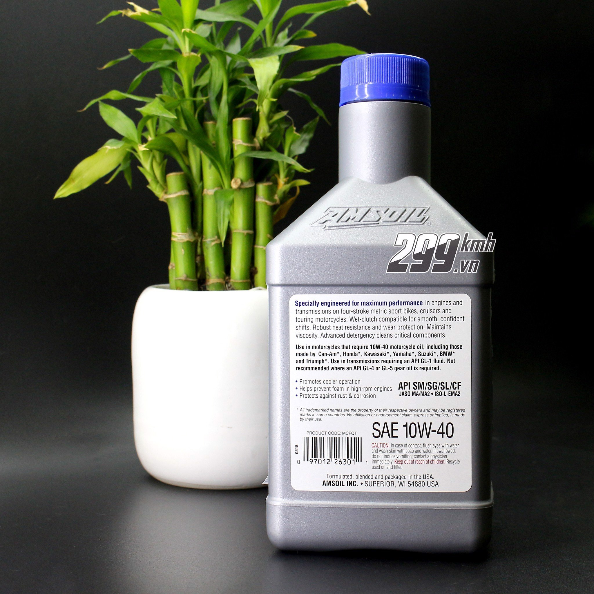 Nhớt Amsoil Metric 10W40 - 100% Synthetic 946ml/1L1/1L3