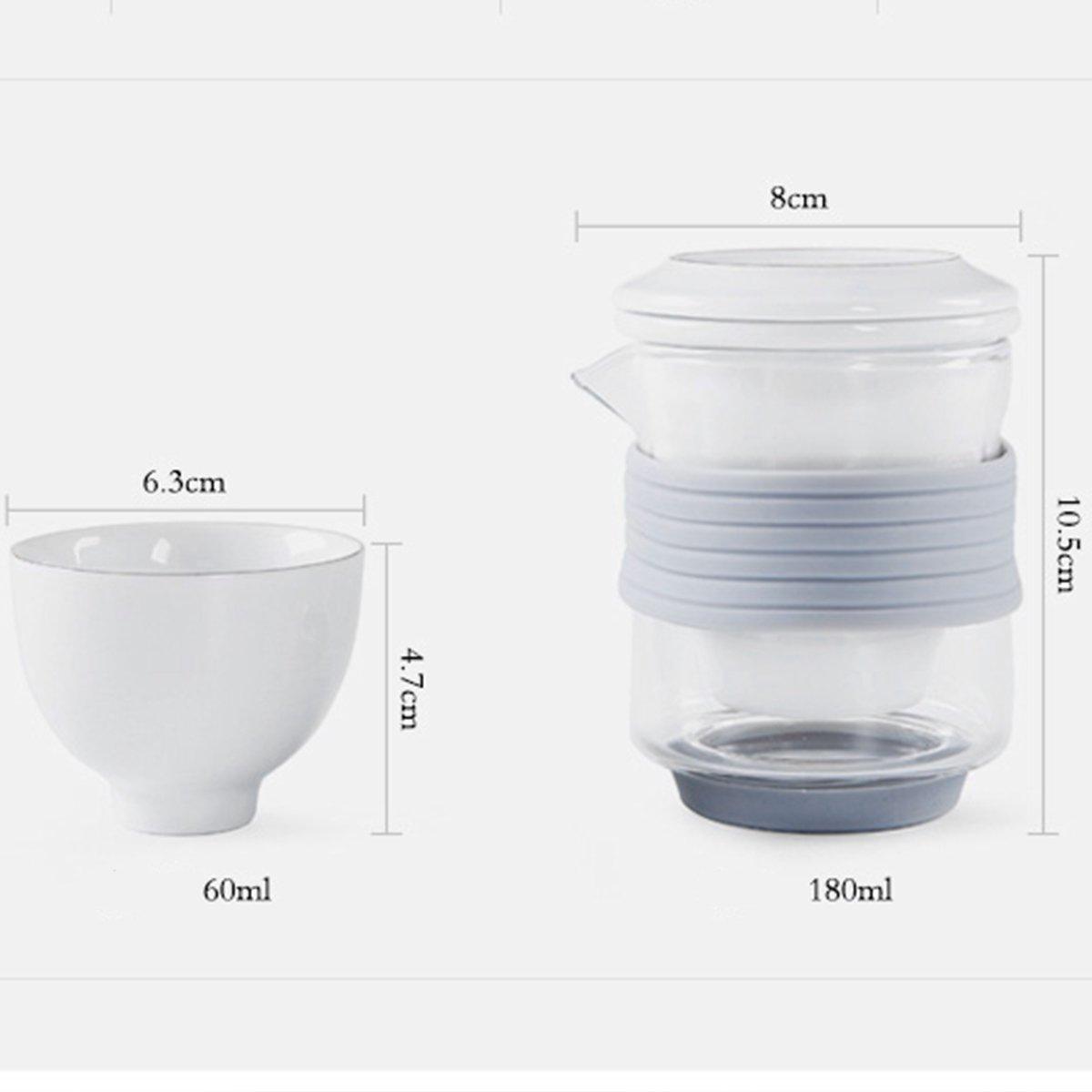 Bộ trà du lịch hiện đại thiết kế sang trọng nhỏ gọn 180ml