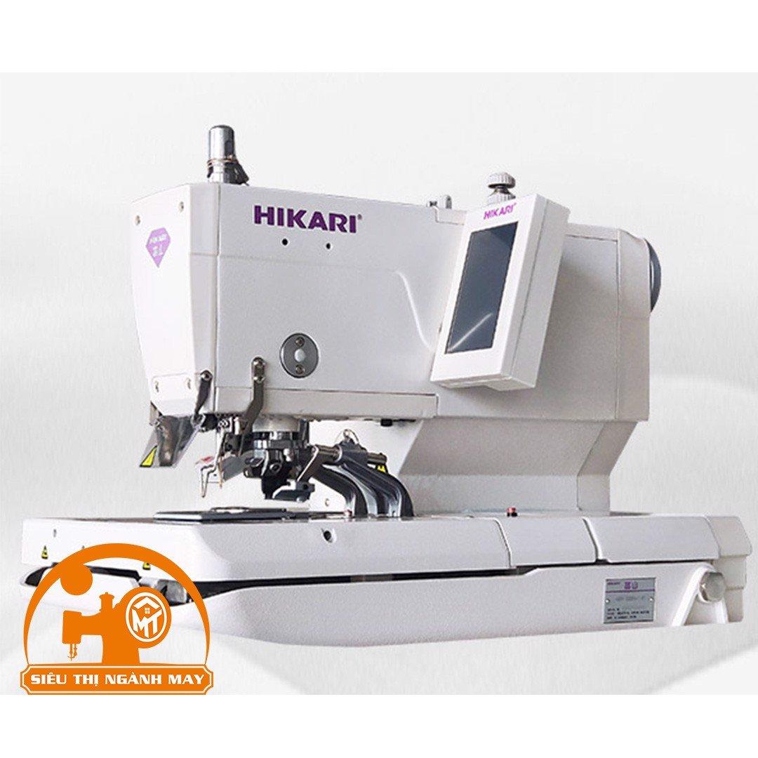 Máy khuy mắt phụng điện tử,cắt chỉ trên dưới, đuôi ngắn ( hàng kaki Jacket ) HBH-588-121