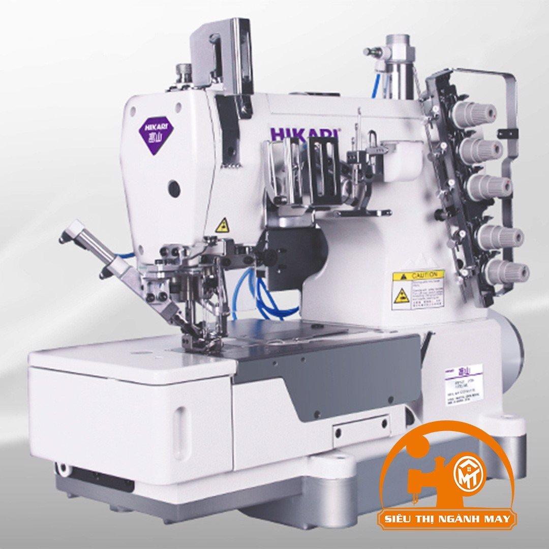 Máy viền bằng điện tử, cắt chỉ trên,dưới,nâng CV tự động (cắt chỉ bằng hơi ) HW762T-1·2-1×356UTC/AK
