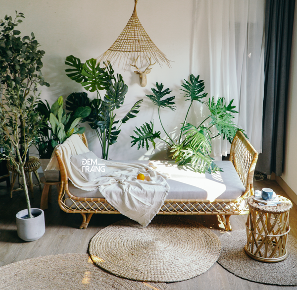 Giường mây - Rattan Daybed