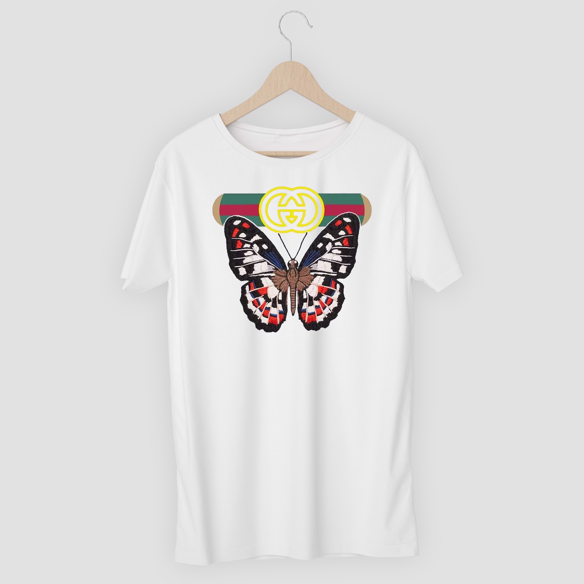 ÁO THUN IN CAO CẤP BUTTERFLY GUCCI
