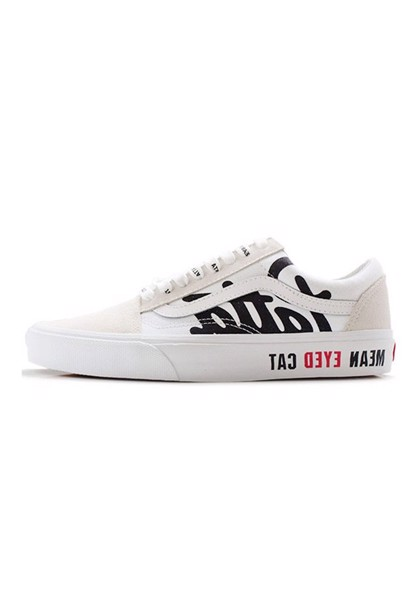 GIÀY THỂ THAO VANS OLD SKOOL PATTA MEAN EYED CAT WHITE