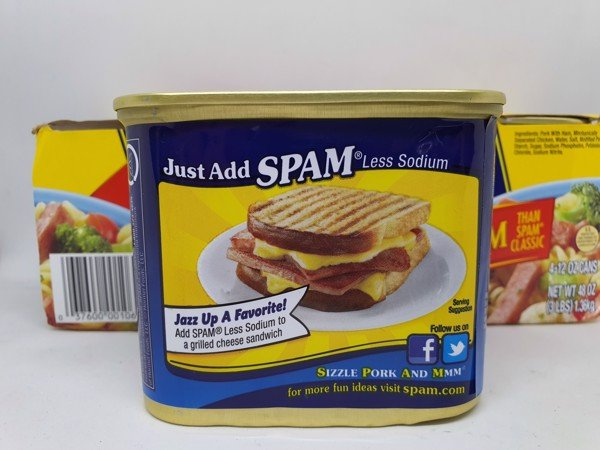 Thịt Hộp Spam Less Sodium usa 340g