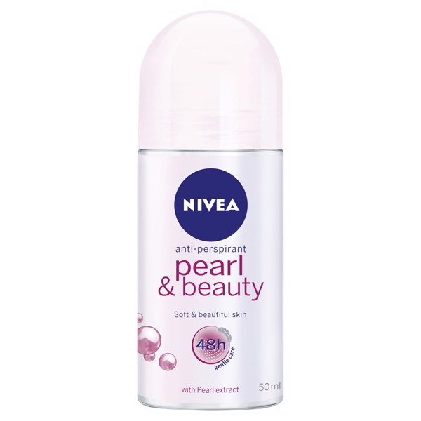 Lăn khử mùi Nivea Pearl & Beauty Anti-Perspirant Roll-On 50ml