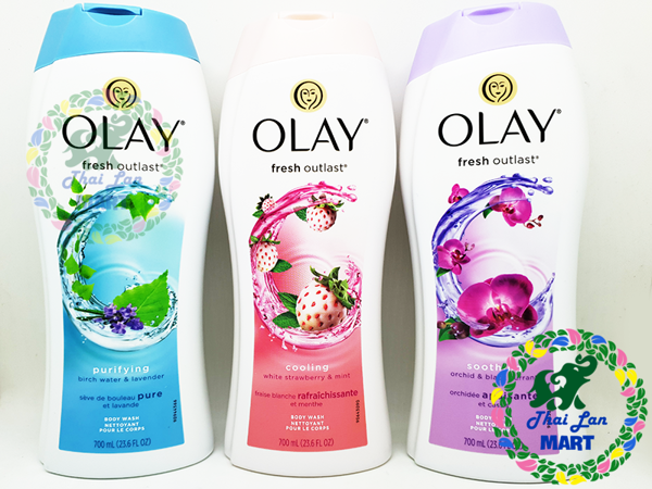 Sữa tắm OLAY FRESH OUTLAST Cooling White Strawberry Mint 700ml