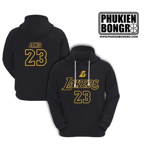 Áo Hoodie Lebron James Lakers