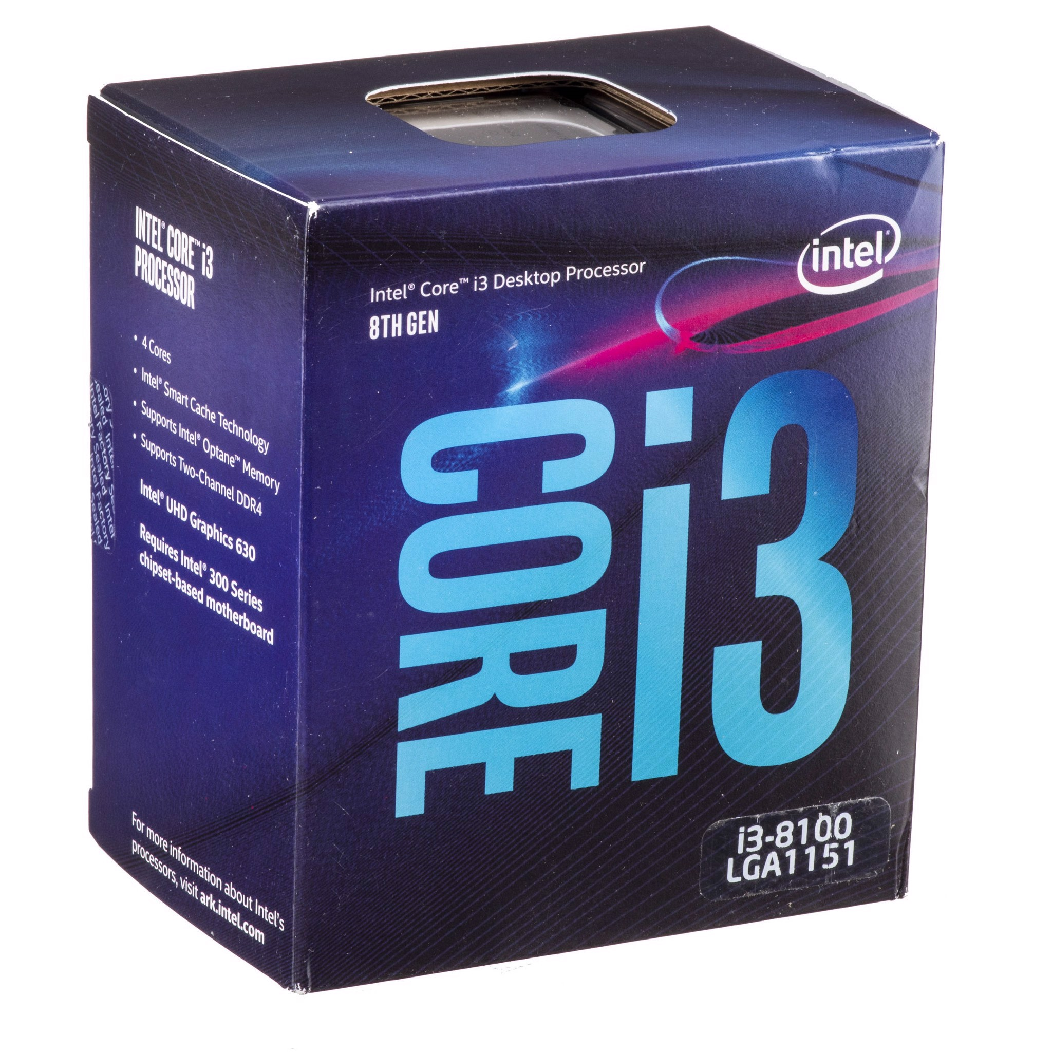 CPU Intel Core i3 8100 (3.60Ghz/ 6Mb cache) Coffee Lake