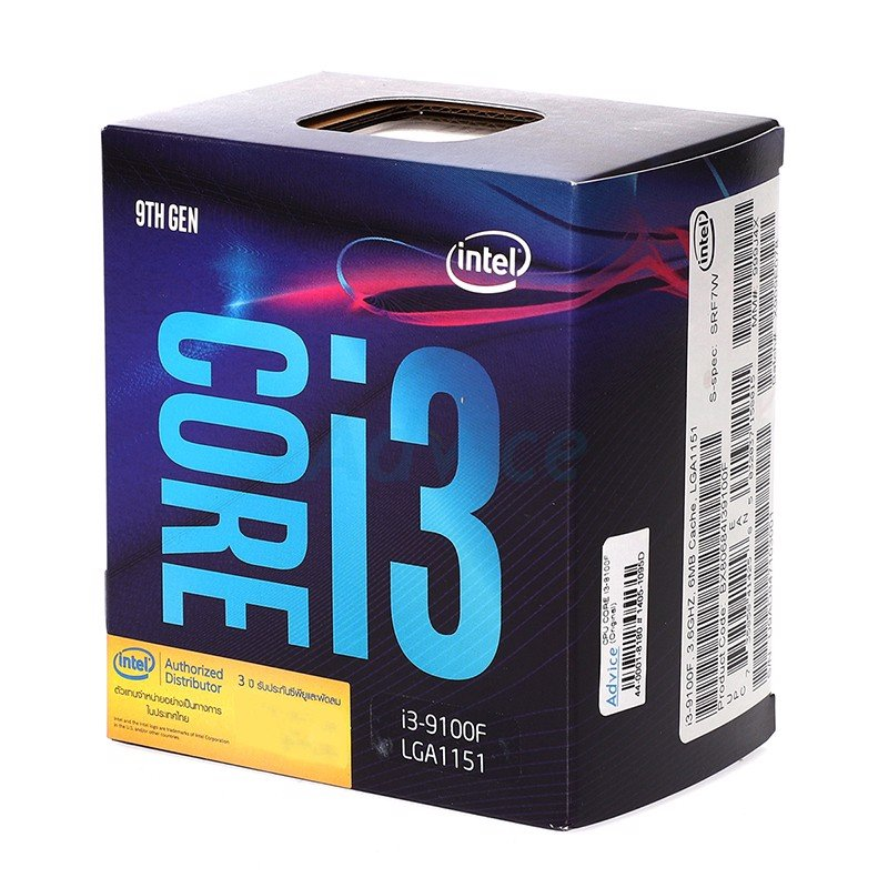 CPU Intel Core i3 9100F (Up to 4.20Ghz/ 6Mb cache) Coffee Lake