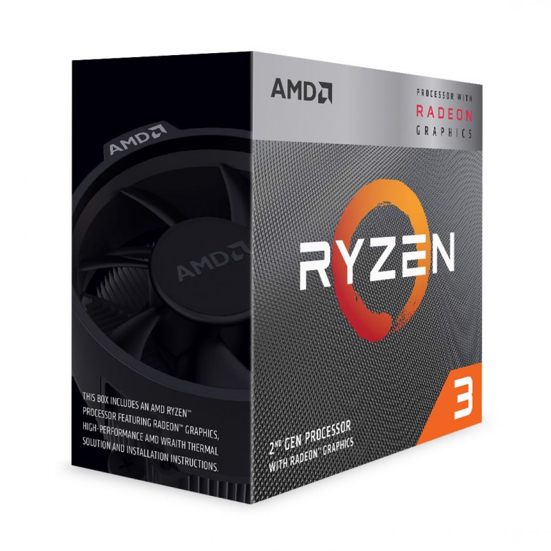 CPU AMD Ryzen 3 3200G (Up to 4.0Ghz/ 6Mb cache)