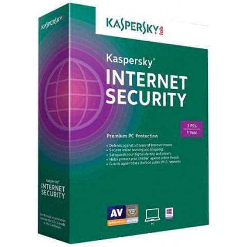 Phần mềm diệt virus Kaspersky Internet Security (3PC/12T)