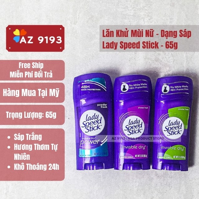 Sáp Khử Mùi Lady Speed Stick Shower Fresh 65g